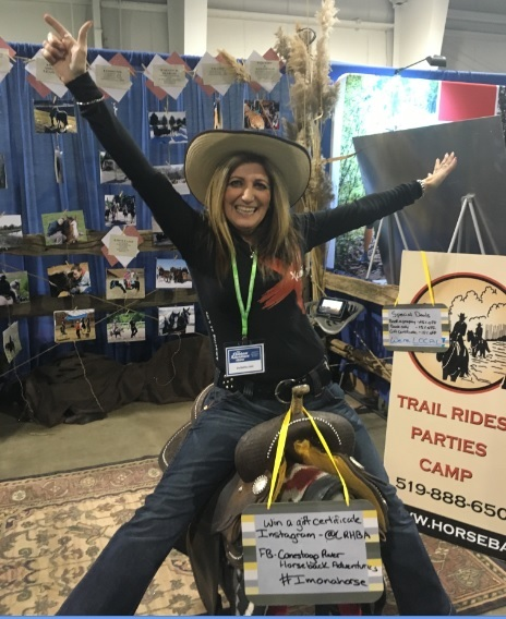 Maha goes trail riding at the 2016 Outdoor Adevnture Show