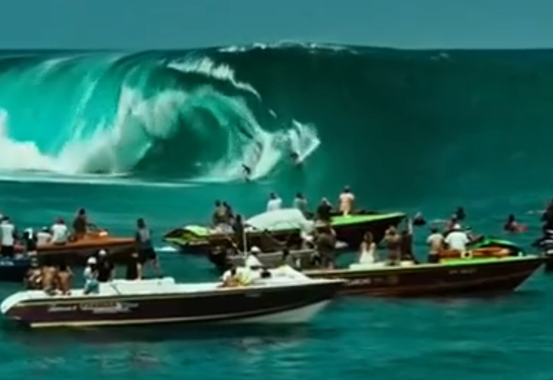 surfing the biggest waves in a decade in 2015 Point Break
