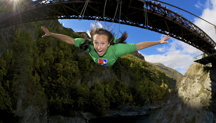 Xperience thumb responsive land bungee jumping