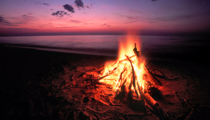 Xperience thumb responsive beach fire