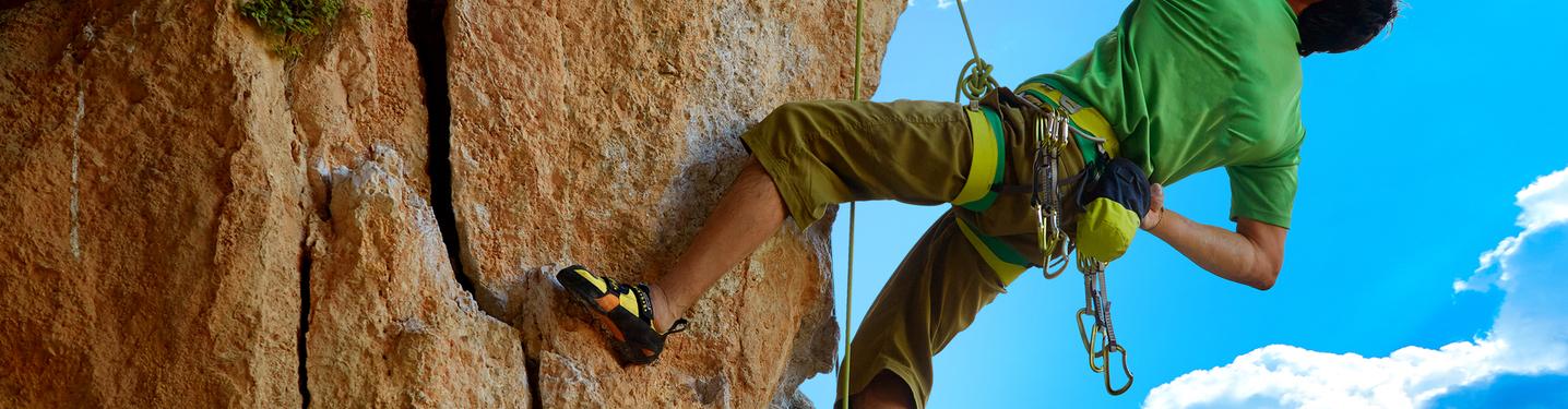 Slider xperience land rock climbing