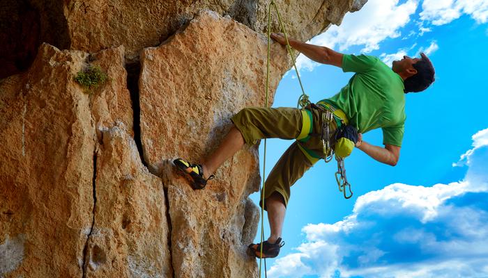 Xperience thumb responsive land rock climbing