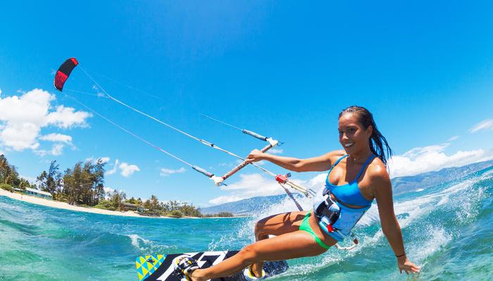 Xperience thumb responsive water kiteboarding