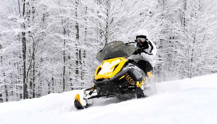 Xperience thumb responsive winter snowmobile