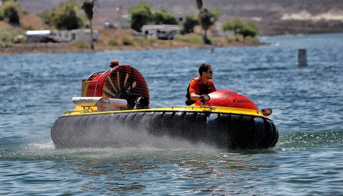 Xperience thumb responsive water hovercraft