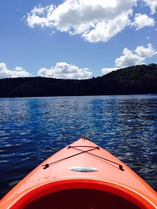 Kayaking on Otter Lake in Dorset