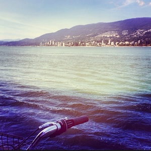 Seawall bike ride in Vancouver, BC