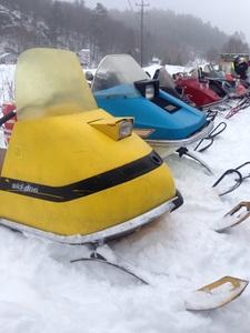 Vintage sled festival in Dorset