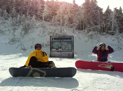 Snowboarding in Killington, Vermont